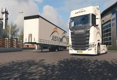 Scania S + Fliegl SDS350 - Justintime Skin Pack v1.0