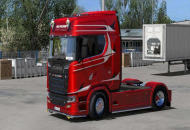 Scania S RED-PASSION skin 1.31