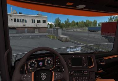 Scania S&R 2016 Orange Black Interior v1.0