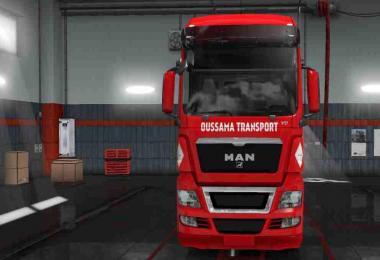 Skin MAN TGX Oussama Transport For ETS2 1.31