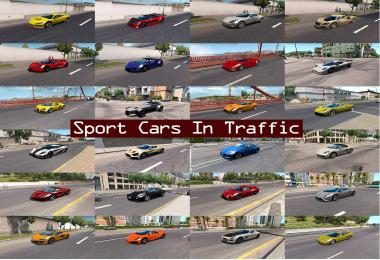Sport Cars Traffic Pack by TrafficManiac for ATS v1.4