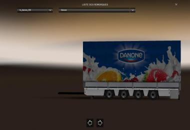 Trailer Tandem Danone v1.0 For ETS2 1.31