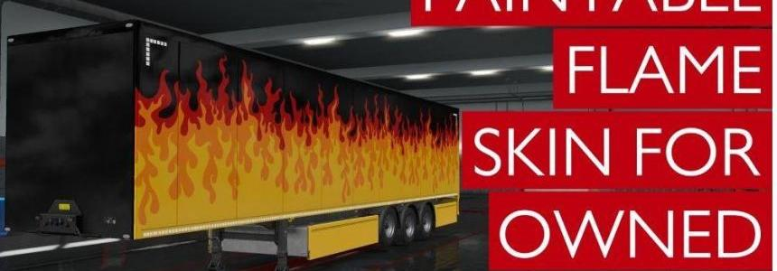 Colorable Flame Skin For Owned Trailers v1.0