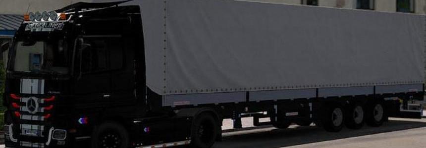 Skin Black Liner Mercedes For ETS2 1.31