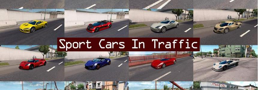 Sport Cars Traffic Pack by TrafficManiac for ATS v1.6