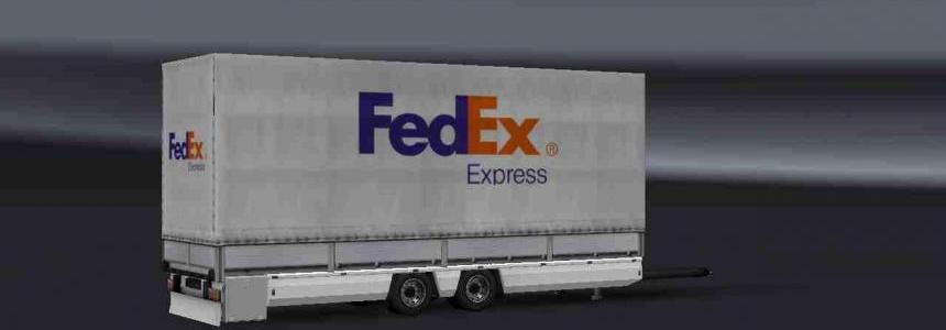 Trailer Tandem Fedex Express For ETS2 1.31
