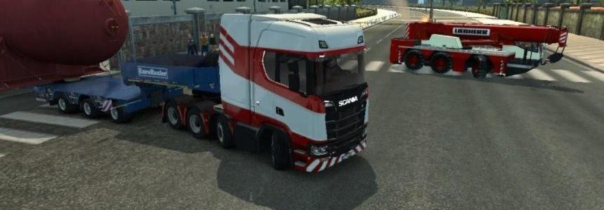 Truck Crane Liebherr accompanied by DLC Special Transport v1.0