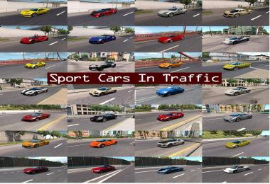 Sport Cars Traffic Pack ATS by TrafficManiac v1.5