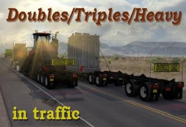 ATS Doubles/Triples/Heavy Trailers in Traffic 1.32