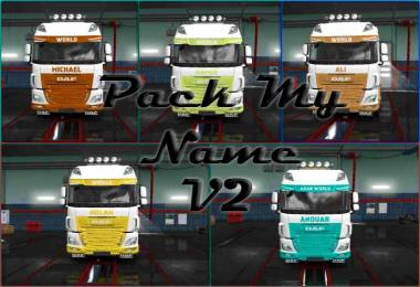 ETS2 Pack My Name v2 1.31