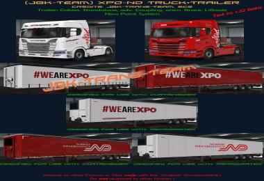 JBK XPO-ND Truck + Owned Trailer Pack v1.0