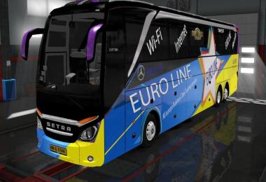Mercedes Setra 517 HDH HD 2 Skinpack with logo v1.0.2
