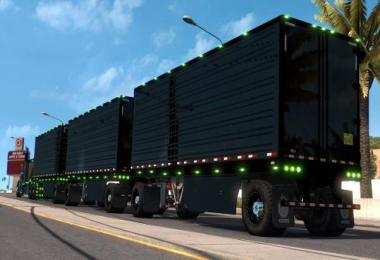 Owned Trailer in black with light options ATS 1.32.x