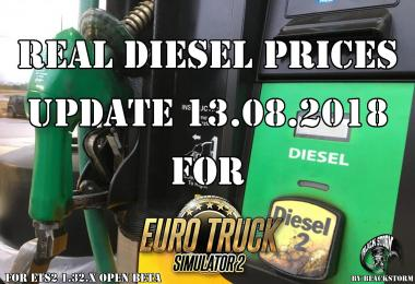 Real Diesel Prices for ETS2 map (upd.13.08.2018)