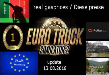 Real gasprices/Dieselpreise update 13.08 v2.6