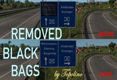 Removed Black Bags on Signs 1.32