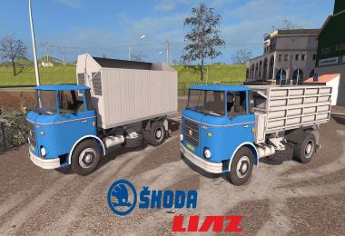 Skoda Liaz 706 mit Wechselbrucken Aufbauten v1.1.0.3