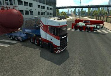 Truck Crane Liebherr accompanied by DLC Special Transport v1.0