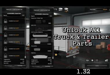 Unlock All Truck & Trailer Parts 1.32 Beta