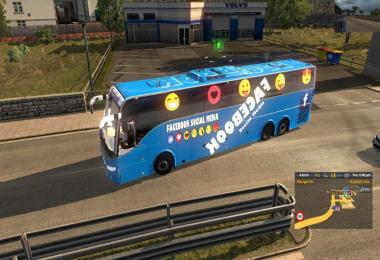 Volvo 9700 bus FB  and YT skin + 1000hp Engine Update v1.0