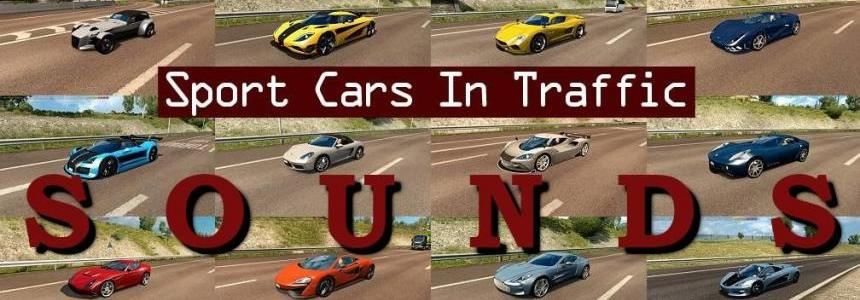[ATS] Sounds for Sport Cars Traffic Pack by TrafficManiac v1.8