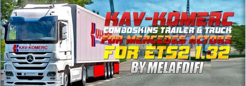 Comboskins KAV-KOMERC For ETS2 1.32