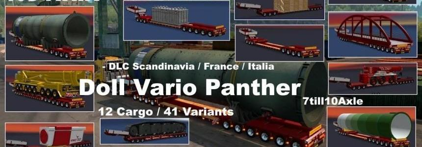 DOLL VARIO 7-10Axles Pack with 12 Cargos ETS2 1.31.x