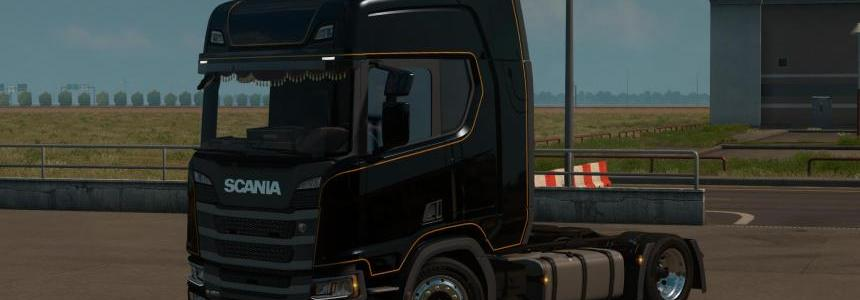 Low deck chassis addon for Scania S&R Nextgen v1.4 1.32.x