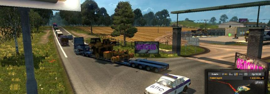 Oversized cargo for the map Russian open spaces v3.0 - v3.1