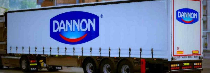 Own Trailer Danone For ETS2 1.32.x