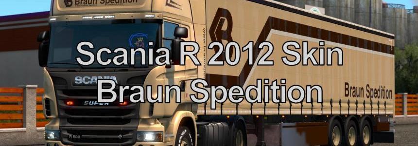 Scania Skin Braun Spedition v1.0