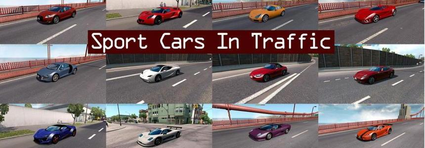 Sport Cars Traffic Pack for ATS by TrafficManiac v1.8