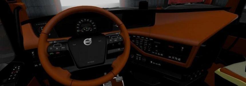 Volvo FH 2012 Black Brown Interior v1.0