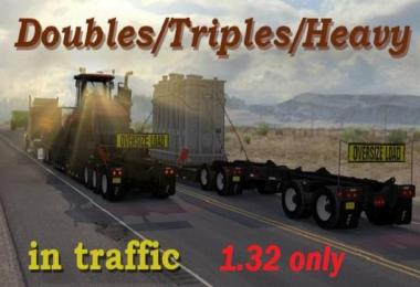 Doubles/Triples/Heavy Trailers in Traffic for 1.32