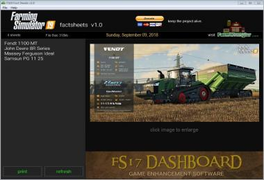 FS17 Factsheets Software v1.0