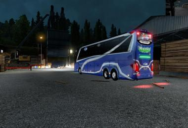 Mercedes Setra 517 HDH V5 with Official Skin + logo ets2 mods v4.0