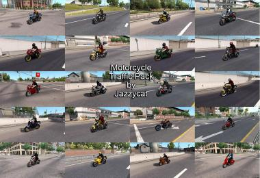 Motorcycle Traffic Pack by Jazzycat v1.4 ATS