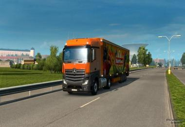 New Mercedes Actros Plastic Parts + ALL DLCs ready + fix 1.32