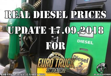 Real Diesel Prices for ETS2 map (upd.17.09.2018)