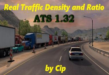 Real Traffic Density and Ratio ATS 1.32