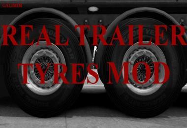 Real Trailer Tyres Mod v1.0 1.32.x