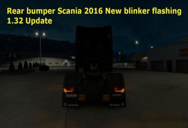 Rear Bumper Scania 2016 New blinker flashing 1.32.x