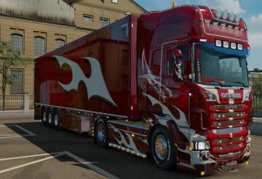 Red Shark Combo Skin Scania RJL 1.32