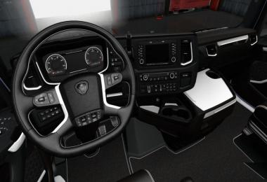 Scania S R White Black Interior v1.0