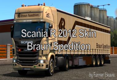 Scania Skin Braun Spedition v1.0