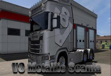 Scania v8 metalic skin 1.32