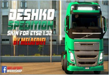 Skin Deshko Spedition For ETS2 1.32