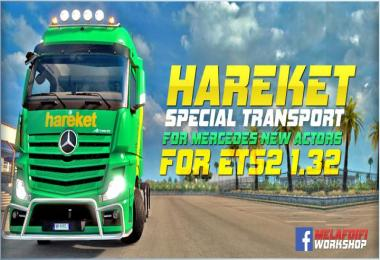 Skin Hareket Special Transport MP4 For ETS2 1.32