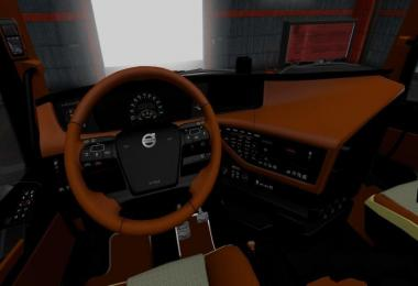 Volvo FH 2012 Black Brown Interior v1.0