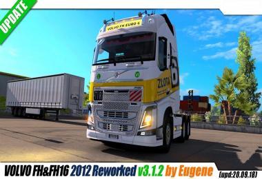 Volvo FH16 2012 by Eugene v3.1.2 + LowDeckChassis by Sogard3 v1.2
